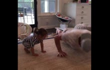 TJ Oshie And His Daughter Lyla Do The 22 Pushup Challenge