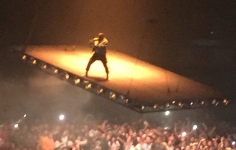 Kanye West Is Performing On A Floating Stage Because He's The GOAT
