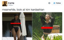 Kim Kardashian Had The Titties OUT At The Pool