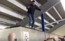 Guy Attempts To Crowd Surf And It Goes Really Well, Just Kidding, No One Catches Him