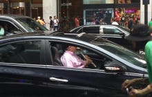 Sometimes You Just Need To Play Your Flute, Even If You Are Caught In New York Rush Hour Traffic