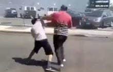A Guy Was Getting His Ass Kicked In A Fight So His Girlfriend Stopped Filming And Maced The Other Dude To Help Out