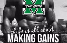 Marshall's Entire Football Team Set Personal Records In The Weight Room #Gains