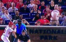 Nats Fan Playing The Belly Bongo Just Putting The Team On His Back