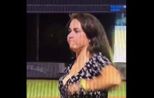 Chick Pukes All Over Herself During Charleston RiverDogs Ribbon Dancing Contest