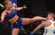 Paige VanZant's Head Kick To Pick Up The KO Tonight Was AWESOME