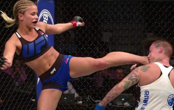 Paige VanZant's Head Kick To Pick Up The KO Tonight Was AWESOME