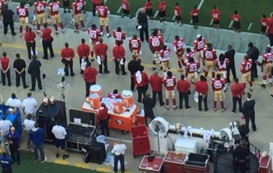 Colin Kaepernick Refuses To Stand For The National Anthem