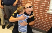 4 Year Old Who Lost His Police Officer Father Gets Hugs From Dozens Of Other Officers On The First Day Of School