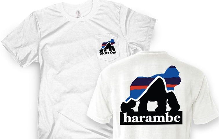Last Call On the Hottest Harambe Shirts In the Internet Streets