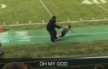 Cincinnati High School Football Team Parades Gorilla Mascot Around The Field Dragging A Small Child As A Tribute To Harambe