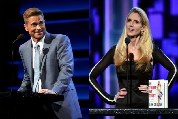 Boo Hoo: Ann Coulter Got A Sun's Worth Of Heat At The Rob Lowe Roast And People Are Pissed