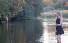 Chick Gets Her Senior Pictures Ruined By Getting Photobomed By A Naked Dude In A River