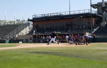 Tim Tebow Hit A Home Run That Went Over The Scoreboard By 20 Feet At His Showcase Today
