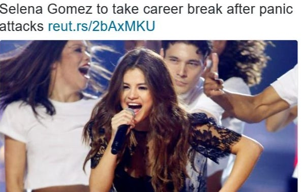 Selena Gomez Gets Put Into A Bodybag By Biebs On Instagram.  Promptly Puts Career On Hold To Deal With Panic Attacks