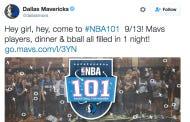 "Uh Ohhhhhh! The Dallas Mavericks Are Having A ""Basketball 101″ Ladies' Night!"