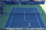 Tennis Player Who Can't Handle Heckling Threatens To Put His Balls In Spectator's Mouth