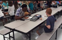 FSU Wide Receiver Travis Rudolph Sees Autistic Boy Sitting Alone At Lunch, Pulls Up A Chair And Eats With Him