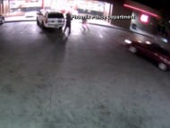 Wild Video: Man Plows His Car Into 3 Police Officers
