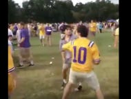 The Fact That This LSU Tailgate Fight Is Only 10 Seconds Long Should Be Considered A Crime Against Internet Humanity