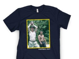 """Jim Harbaugh Confirms He Drinks Exclusively Whole Milk, Time For A """"Football Guy"""" Shirt"""