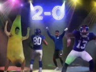 This GIF Of The Giants Passing Attack Dancing Is Currently My Favorite Thing In The Universe