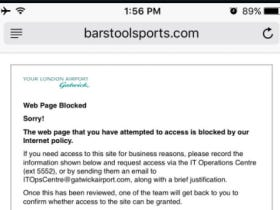 How In The World Is Barstool Blocked At London's Gatwick Airport?