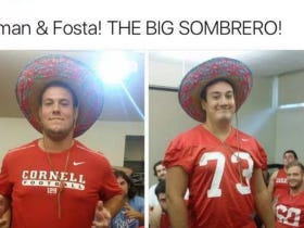 Cornell Football Team Under Fire For Disgustingly Racist Tweet Of A Player Wearing A Sombrero