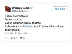 Bears Friday Injury Update Is On Fire!