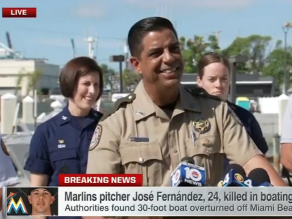 The Coast Guard Officers Cracking Jokes And Laughing To Start Their Press Conference On Jose Fernandez Was A TERRIBLE Look