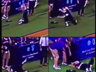 Re-Live The Best Clip of the Year – Auburn Photographer Gets Smoked In The Face By Football