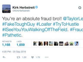 Kirk Herbstreit Roasts Titans Lineman For Dirty Play, Destroys Him With Hashtags