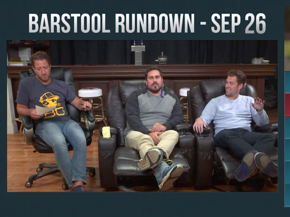 Barstool Rundown – September 26, 2016