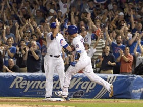 David Ross Hit A Home Run In His Final Regular Season Game At Wrigley, And Left To A Standing Ovation