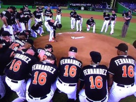 Marlins Pay Tribute To Jose Fernandez With A Somber Rendition Of Take Me Out To The Ballgame
