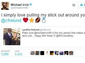 Michael Irvin Loves Pulling His Stick Out Around Cynthia Frelund… Ummmm, That's Assault, Brotha