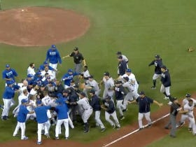 Benches Clear In Toronto Between The Blue Jays And Yankees