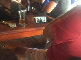 Watching Netflix On Your Phone At The Bar During A Football Sunday Is The Wildest Move I've Ever Seen