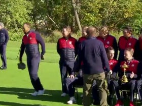 Vice Captain Tiger Woods Gets Awkwardly Booted From Ryder Cup Picture