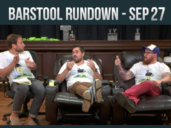 Barstool Rundown September 27, 2016