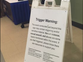 "Hofstra Posted A Gigantic ""Trigger Warning"" Outside of the PRESIDENTIAL DEBATE"