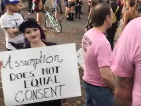A Situation Between A Guy Filming The Portland Slutwalk And Some White Knights Is As Awful And Dramatic As You'd Expect