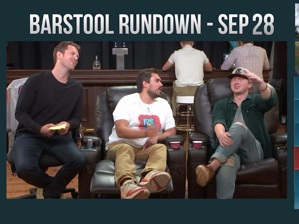 Barstool Rundown – September 28, 2016