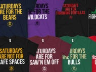 *SOUND THE ALARM* Whole New Batch Of College-Themed Saturdays Are For The Boys Shirts Because I'm Your Best Fucking Friend