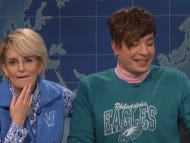 Tina Fey And Jimmy Fallon Play Delco Gals In A Shockingly Awful Weekend Update Bit