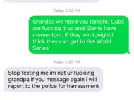 Cubs Fan Texts His Deceased Grandfather's Old Phone Number For Encouragement Before Playoff Games