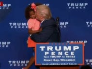 Donald Trump Goes In To Kiss Little Girl And Gets DENIED