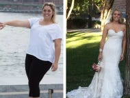 This Bride Who Lost 100 Pounds Between The Engagement And The Wedding Must Feel Like The Opposite Of Buying Twitter Stock For Her Husband