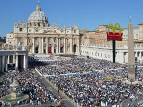 There Is A McDonald's Opening At The Vatican And Some Of The Cardinals Are PISSED Off About It