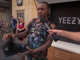 Jimmy Kimmel Pranks People With A Fake Pair Of Yeezys
